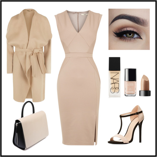 neutral black look