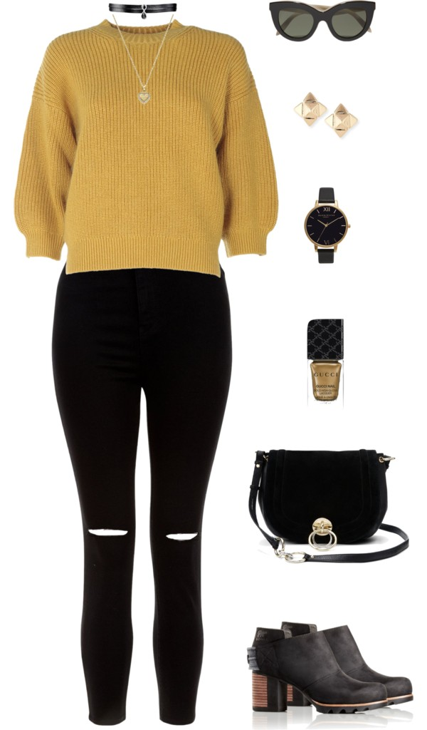 Black and Yellow Casual
